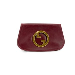 "Gucci ""Blondie GG"" Vintage Gold Plated Clutch"